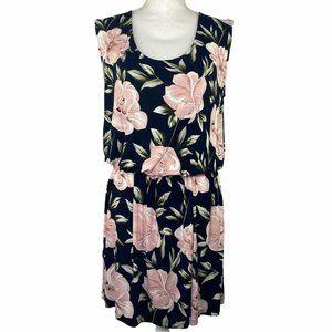Floral Drop Waist Lightweight Knit Dress